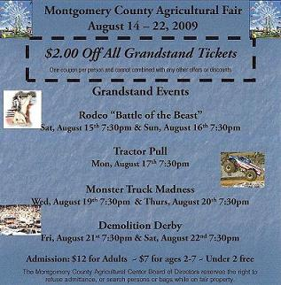 Montgomery county fair discount coupons